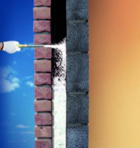 Knauf Insulation Supafil Cavity Wall Nachträgliche Dämmung von zweischaligem Mauerwerk